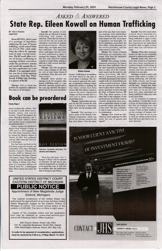 Washtenaw Legal News