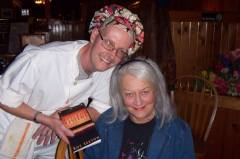 Rusty Miskovich and Susie Duncan Sexton present Tari her birthday gift