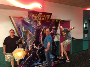 Guardians of the Galaxy with interlopers Charlie, Steve, Jim
