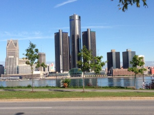 Detroit always looks best from ... Canada?