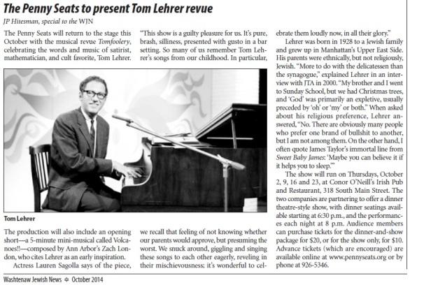 Jewish News coverage of Tomfoolery