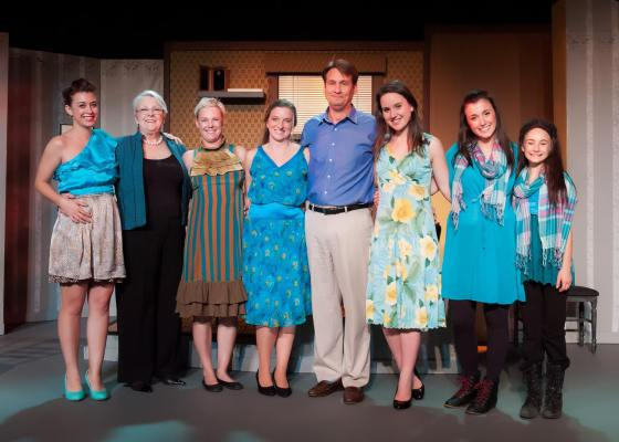 And presenting: ALL of Jake's Women. His girlfriend, his therapist, his sister, his wife, his late wife, his daughter aged 21 and 12. November 14-December 7. A heartwarming comedy by Neil Simon. [Photo by Melissa Tremblay of Platinum Imagery.]