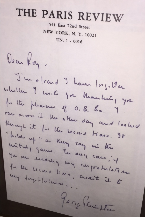 Plimpton Letter