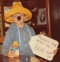 Me as Paddington for Halloween