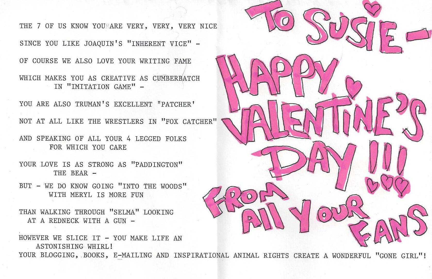 Susie 2015 Valentine 2