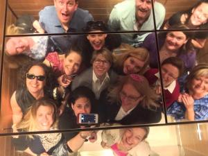 How many marketers fit in an elevator?