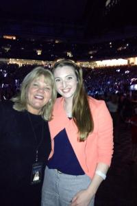Linda's daughter Laura (right) with Taylor's mom Andrea