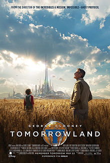 """Tomorrowland poster"" by Source (WP:NFCC#4). Licensed under Fair use via Wikipedia - http://en.wikipedia.org/wiki/File:Tomorrowland_poster.jpg#/media/File:Tomorrowland_poster.jpg"