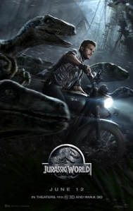 """Jurassic World poster"" by Source (WP:NFCC#4). Licensed under Fair use via Wikipedia - https://en.wikipedia.org/wiki/File:Jurassic_World_poster.jpg#/media/File:Jurassic_World_poster.jpg"
