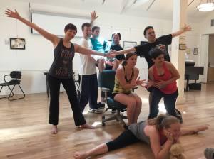 Urinetown ensemble in rehearsal