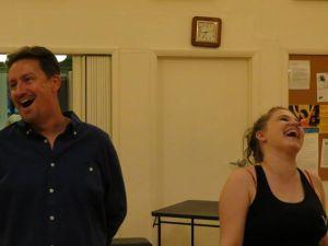 Roy Sexton as Lockstock and Sarah Leahy as Barrel