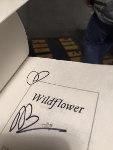 Wildflower ... autographed