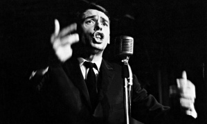 "Jacques Brel On Stage At ""La Tete De L'Art"", Avenue De L'Opera In Paris, France -"